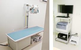 X線撮影室風景(X線一般撮影装置&CR装置)
